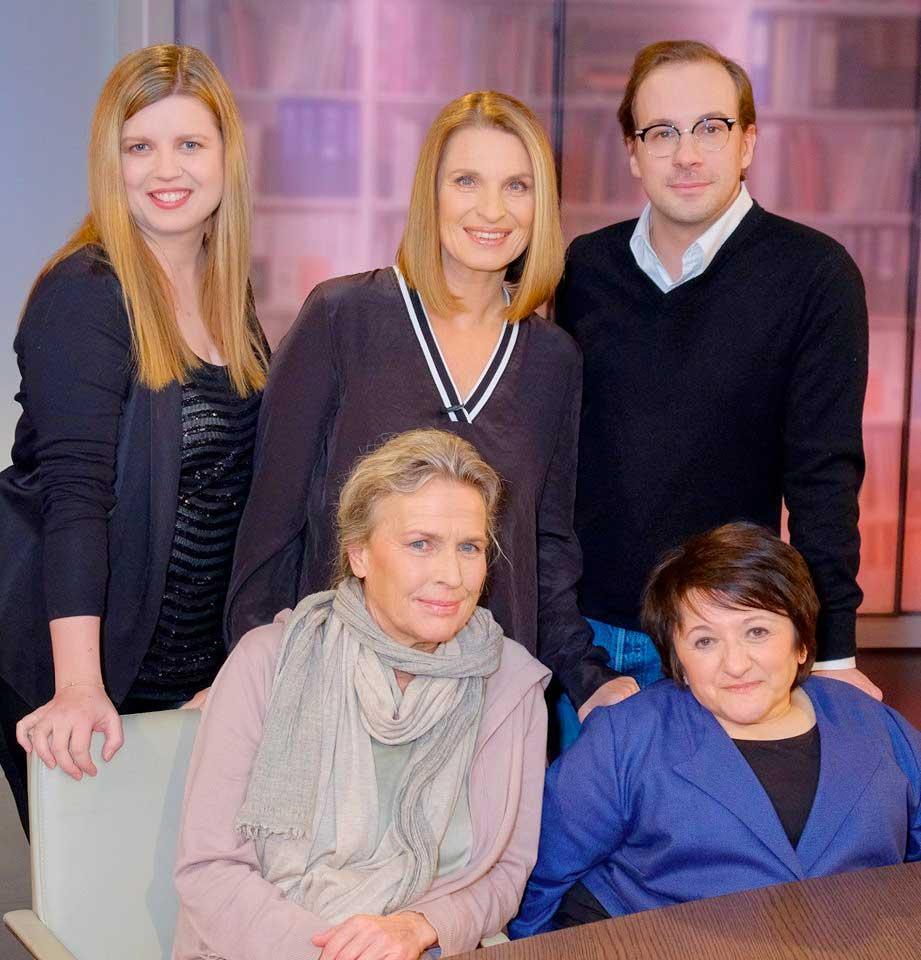Bei Barbara Stöckl mit Simone Kopmajer, Zuhal Mössinger-Soyhan und Florian Teichtmeister